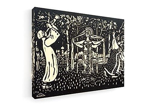 Wassily Kandinsky - Schalmei - Heliogravüre 1907 - 40x30 cm - Leinwandbild auf Keilrahmen - Wand-Bild - Kunst, Gemälde, Foto, Bild auf Leinwand - Alte Meister / (Russische Folklore Kostüme)