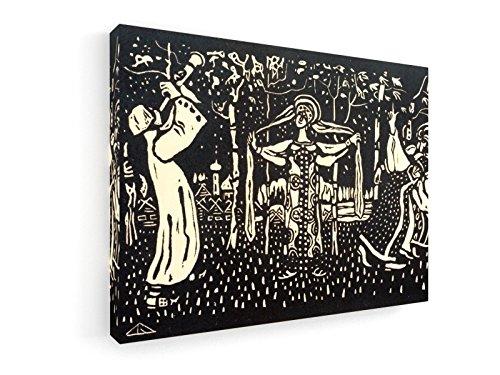 Schalmei - Heliogravüre 1907-40x30 cm - Leinwandbild auf Keilrahmen - Wand-Bild - Kunst, Gemälde, Foto, Bild auf Leinwand - Alte Meister/Museum (Russische Volkstracht)