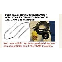 G.M. Production - 191G/Pann+KEYS - Cavo AUX Mp3 autoradio di serie Blaupunkt su ALFA FIAT LANCIA con presa a pannello - Solo con Aux a display disponibile - con chiavi sgancio a corredo [controllare foto e dettagli compatibilità]