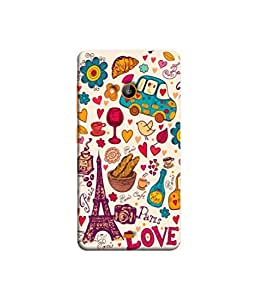 Nokia Lumia N540 Paris Love Uv Printed Back Cover by Purple Eyes