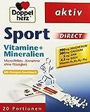 Doppelherz Sport DIRECT mit Orangen-Geschmack – Nahrungsergänzungsmittel mit B-Vitaminen und Mineralien für Sportler und körperlich Aktive – 20 Portionen (20 x Micro-Pellets = 40 g)