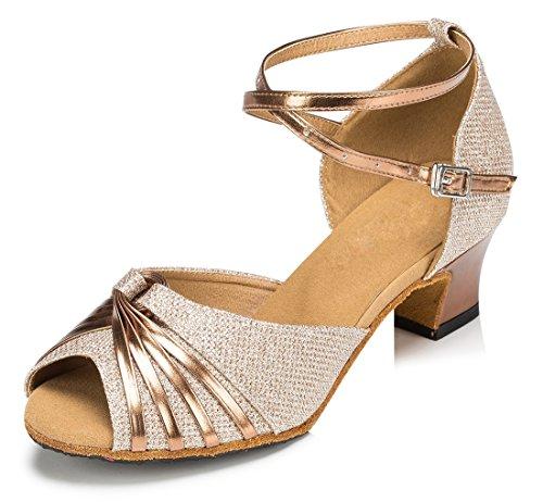 TDA ,  Damen Knöchel-Riemchen 4.5cm Heel Gold