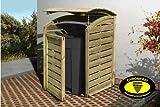 Mülltonnenabtrennung / Mülltonnenbox für 1 Tonne 240L aus KDI Holz