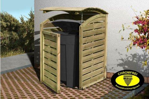 *Mülltonnenabtrennung / Mülltonnenbox für 1 Tonne 240L aus KDI Holz*