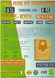 SI11 confezione 8 sacchetti BBZ 41 F G ALL per aspirapolvere SIEMENS BOSCH KARCHER ARIETE AMSTRAD GIRMI SEVERIN controllare compatibilità in foto