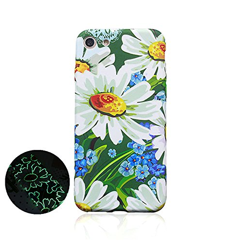 "Jinberry Colorate Fiori Matte Custodia Luminosa Protettiva in TPU Morbida per iPhone6 (4.7"") Dipinto Ultrasottile Case Back Cover Nottilucenti per Apple iPhone 6 - 08"