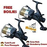 Best Baitrunner Reels - Baitrunner Carp Fishing Reels x2 EG60 Freespool Review
