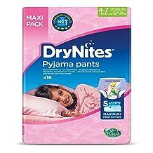 DRYNITES Pyjama Pants, Age 4-7 Y,  GIRL, 17-30 kg, 16 Bed Wetting Pants