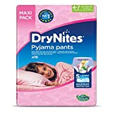 Huggies DryNites Girls' Slip-On Pyjama Pants 4-7 Years (17-30kg) 16-Pack