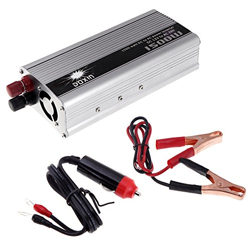 KKmoon 1500W WATT DC 12V to AC 230V Portable Car Power Inverter Charger Converter Transformer (Kabel Für Power Inverter)