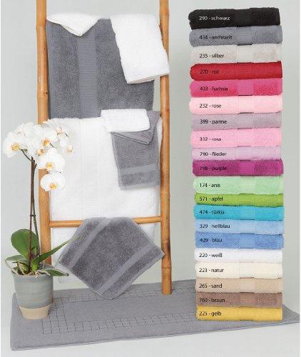Frottee Gästetücher VENEZIA 30x50 cm von VAL DE VILLE, diverse Farben (6er Pack), Farbe:Rose (232)