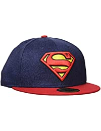 d9d40c0db087b New Era Hommes 59FIFTY Fitted Superman Marvel Casquette Bleu