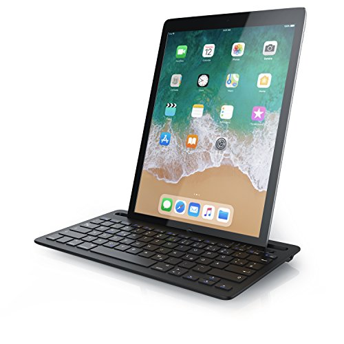 CSL - Bluetooth Tastatur mit integrierter Tablet Halterung | QWERTZ Layout Deutsch | kompatibel mit iOS Android Windows | kompatibel mit Apple iPad 2 3 4 Pro Air - Air Portable 2 Für Ipad Tastatur