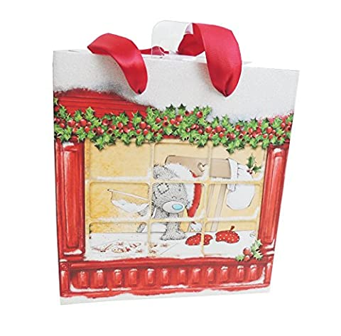 Me to You Tatty Teddy Weihnachten Santa Hat Backen in Fenster Geschenk Wrap Tasche, M