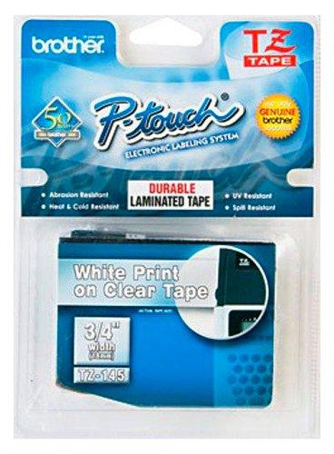 Brother TZ145 Schriftbandkassette 18 mm x 8 m farblos / weiß für P-touch 200 300 500 series