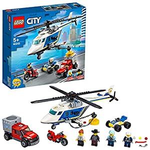 LEGO City Inseguimentosull'ElicotterodellaPolizia con Quad ATV, Moto e Camion, Set da Costruzione per Bambini dai 5 Anni in su, 60243 5702016617771 LEGO