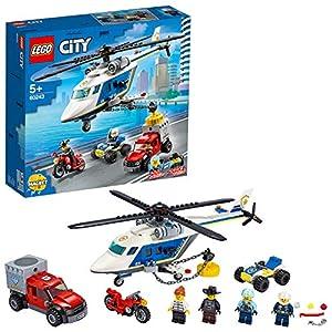 LEGOCityInseguimentosull'ElicotterodellaPoliziaconQuadATV,MotoeCamion,SetdaCostruzioneperBambinidai5Anniinsu,60243 5702016617771 LEGO