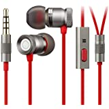 GGMM® Nightingale In Ear Headphones with Mic for Hands-free Calling, Aviation Aluminum Material of Full Body, Deep Bass Stereo Sports Earphone with Noise Isolating for iPhone, ipad, Samsung or other Android, MP3 Player with 3.5mm Port-Space Gray