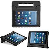 MoKo Funda Para Nuevo Amazon Fire HD 8 Tableta(8 pulgada, 7 ª Generación, modelo de 2017) - Portátil Shock Proof Lightweight Kids Protector Parachoque Cover Case con Manija para All-New Amazon Fire HD 8 Tablet, Negro