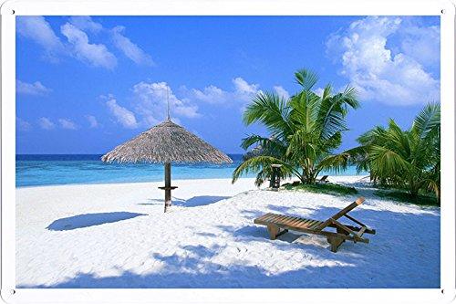 affiche-metal-poster-tin-plaque-de-signalisation-beach-sun-lounger-sand-beautiful-87326-retro-vintag