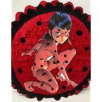 Pignatta Lady Bug, Miracolous (piñata, pentolaccia), pignatta per feste di compleanno a tema del cartone lady bug, per bambine.