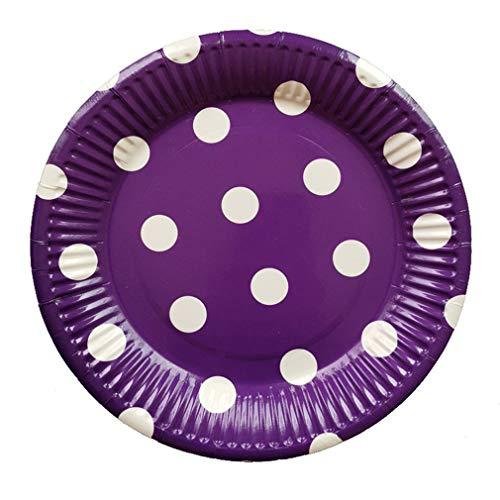 Lightleopard 10 Stücke Einweg Pappteller Geburtstagsparty Runde Punkte Platte Obstteller Yellow Tea Platte