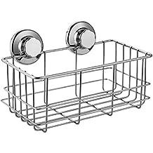 ARCCI in acciaio INOX per doccia Satina-Mensola per doccia, a ventosa, con rotazione & Lock (Ventosa Piatti)