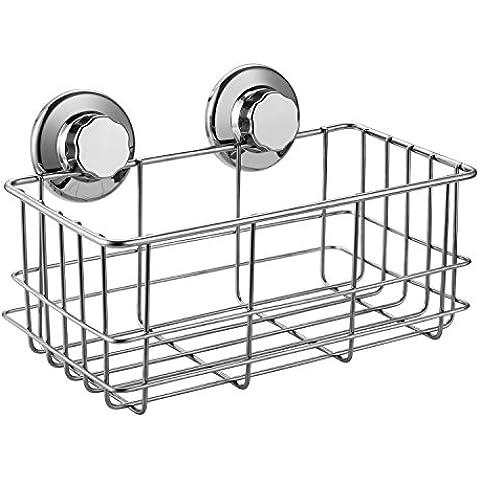 ARCCI cesta de la ducha de acero inoxidable estante para ducha con fijación ventosa rotación & Lock
