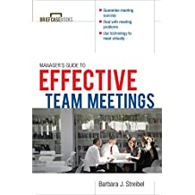 The Manager's Guide to Effective Meetings (Briefcase Books Series) (English Edition)