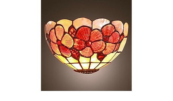 Mini applique a lumi ¨ ¨ res tiffany style shell lamp amazon