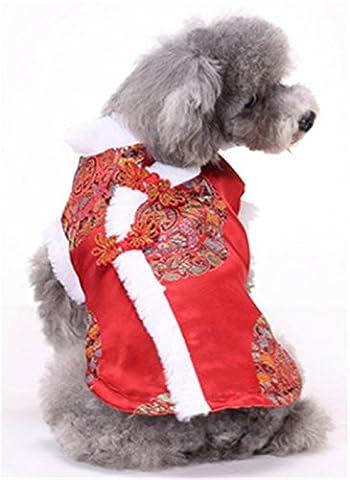 Stillshine Pet dog cat clothes Tang suit New Year dress