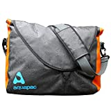 Aquapac Wasserdichte Messenger Bag Stormproof, Grau-Schwarz-Orange, 46 x 35 x 15 cm, 026
