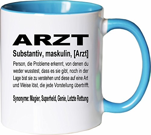 Mister Merchandise Kaffeebecher Tasse Arzt Definition Geschenk Gag Job Beruf Arbeit Witzig Spruch...