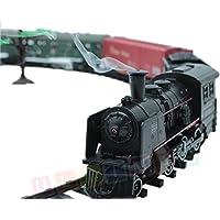 Ultimar Eisenbahn elektrisch set - Dampflokomotive, 4 Wagen, Sound, Licht und Rauch - Elektrische Lokomotive - 25 Teile