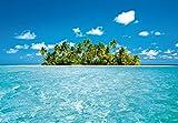 Fototapete MALEDIVE DREAM 366x254 Malediven Insel Palme Südsee Ozean Wasser blau