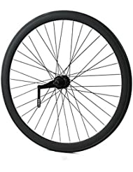 "Ridewell BIKE Roue arrière avec retropédalage 28"" profil 43 mm Noir Mat (avec retropédalage)/Rear wheel Coaster Brake 28"" rim height 43 mm (Coaster Brake matt black)"
