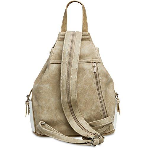 181a1397db635 ... CASPAR TS1028 Damen Tasche Handtasche Rucksack Umhängetasche - diverse  Modelle  15117 weiß beige Rucksack ...