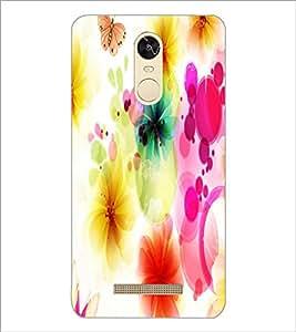 PrintDhaba Floral Pattern D-1107 Back Case Cover for XIAOMI REDMI NOTE 3 (MEDIATEK) (Multi-Coloured)