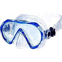 AQUAZON Beach Junior Medium Schnorchelbrille, Taucherbrille, Schwimmbrille, Tauchmaske für Kinder, Jugendliche von 7-14 Jahren, Tempered Glas, sehr robust, tolle Paßform