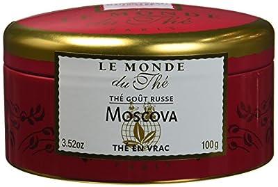 LE MONDE DU THE Moscova Thé Noir Mélange Russe 100 g - Lot de 3