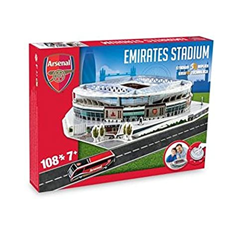 New Arsenal Football Emirates Stadium Replica Fun Home Ground 3D Puzzle Game