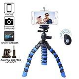 Handy Stativ Flexibel, RESON Mit Bluetooth Fernsteuerung 3-in-1 Kamera Ständer...