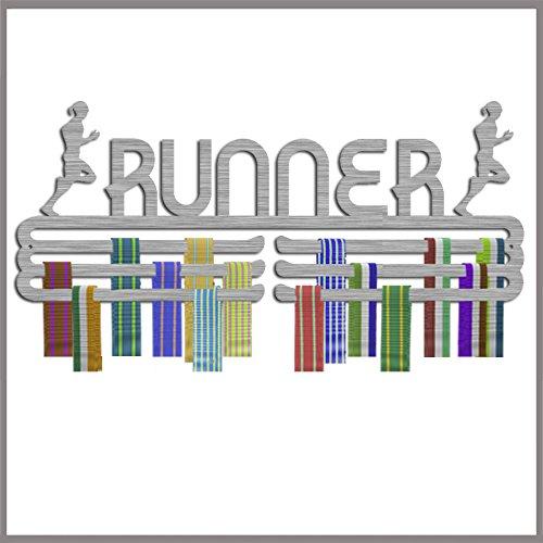 Medaille Aufhänger Display Buchse Runner Edelstahl dreifache Kontingent - Race-medaille Aufhänger