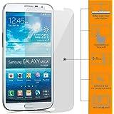 Saxonia Displayschutzfolie Panzerglas für Samsung Galaxy Mega 6.3 (GT-i9200) Glasfolie Hartglas Schutzfolie | HD Klar Transparent