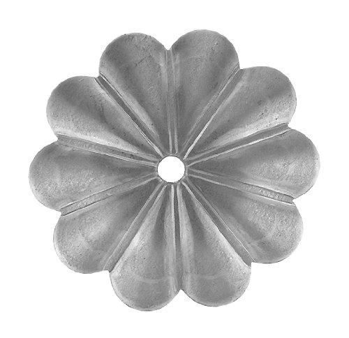 Gah-Alberts 423322 Zierrosette, Stahl roh, stärke 5 mm, Breite: Rosette 92 mm