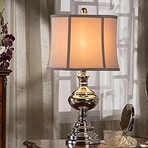 New Lamps salon moderne de style europ¨¦en lampe table en fer forg¨¦ ¨¦tude de lampe de chevet chambre mode simple Nordic Light