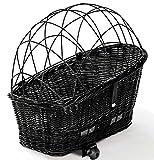 Tigana - Hundefahrradkorb für Gepäckträger aus Weide 60 x 39 cm mit...