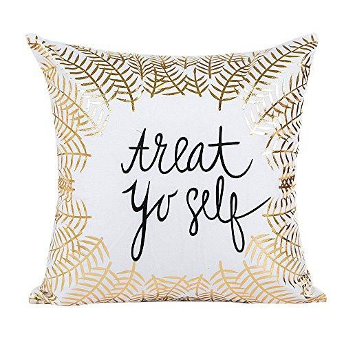 DEELIN Home Party Coffee Club Decor Fashion Gold Foil Printing Square Pillow Case Waist Throw Cushion Co
