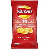 Walkers Ready Salted Crisps, 25 g, Pack of 12