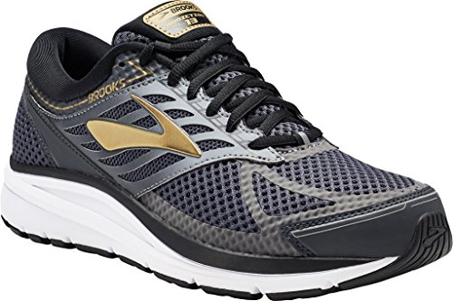 Brooks Men's Addiction 13 Black/Ebony/Metallic Gold 14 D US